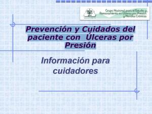 Prevención y Cuidados de pacientes con úlceras por presión. Información para cuidadores