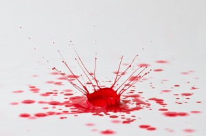 The Old Red Paint Splash