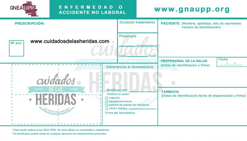 RECETA CUIDADOS DE LAS HERIDAS